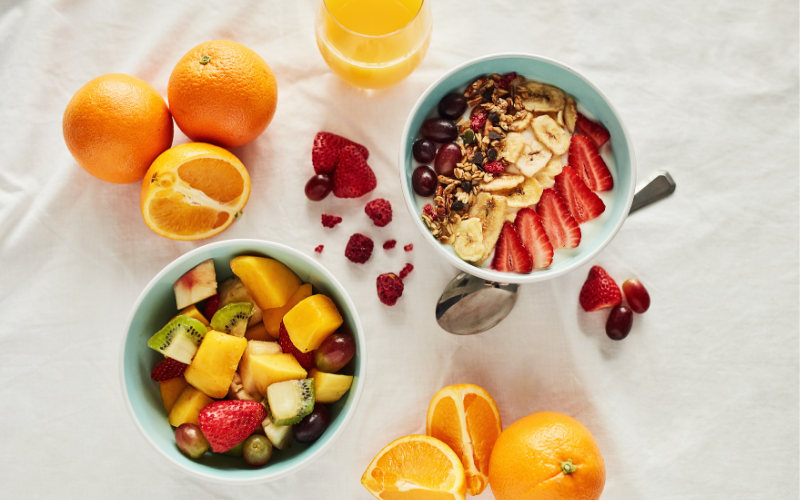 healthy foods. eating right as a self care tip for busy moms