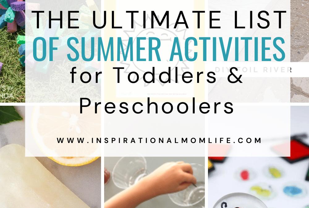 Summer Activities for Toddlers and Preschoolers